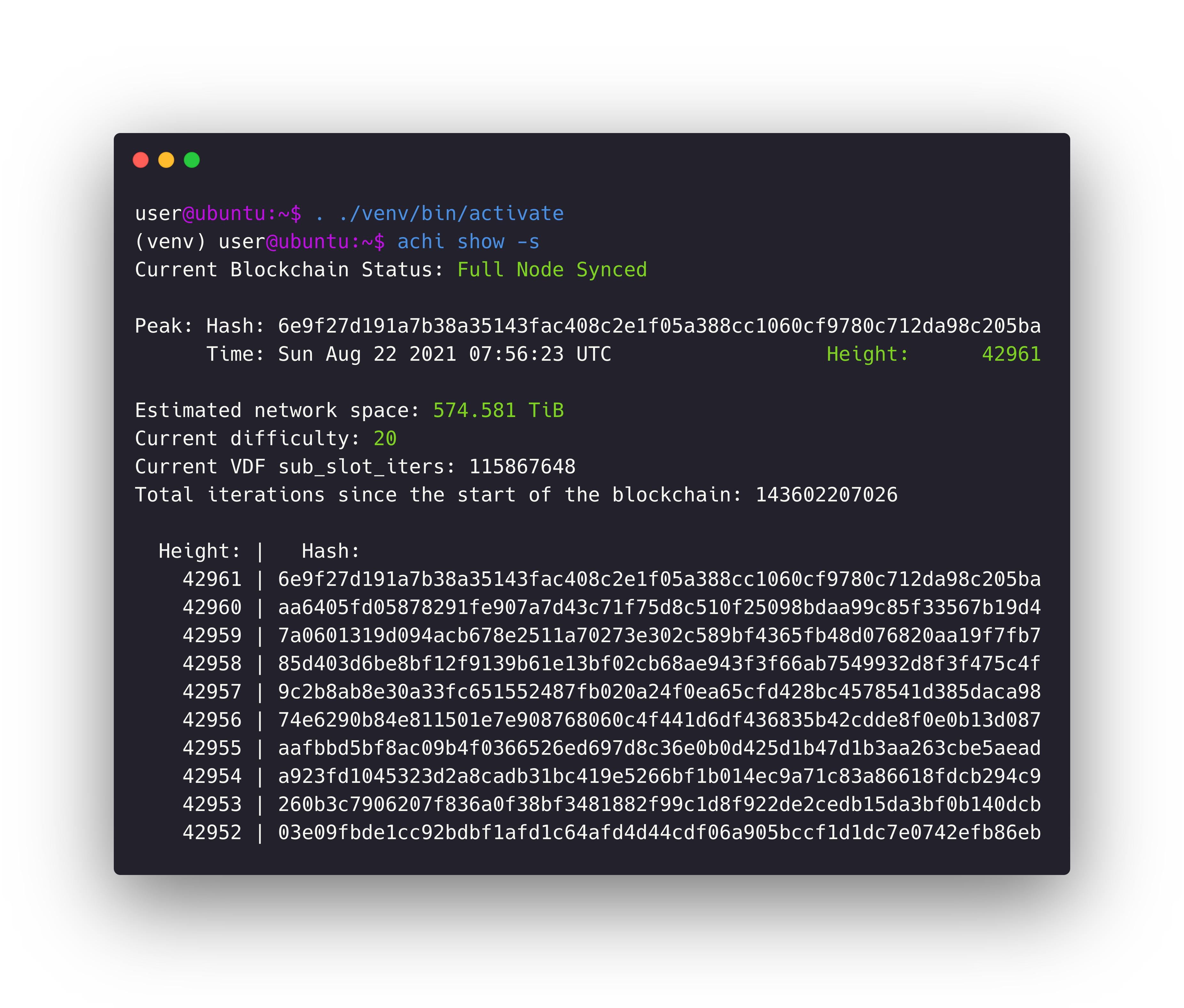 How to check full node status?